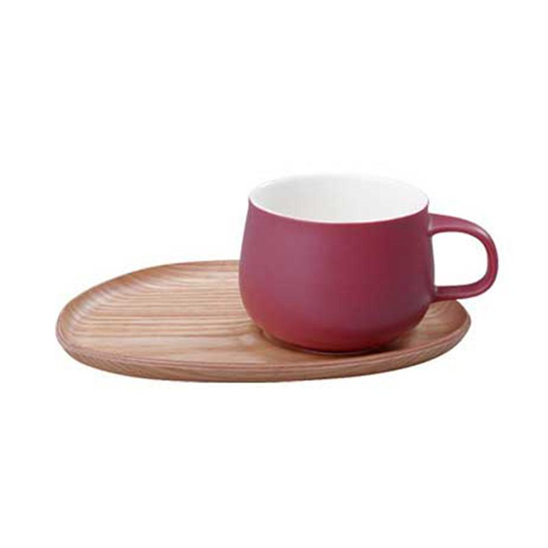 Kinto Fika Cafe Sweets Wood 22580 Red Mug [250 mL]