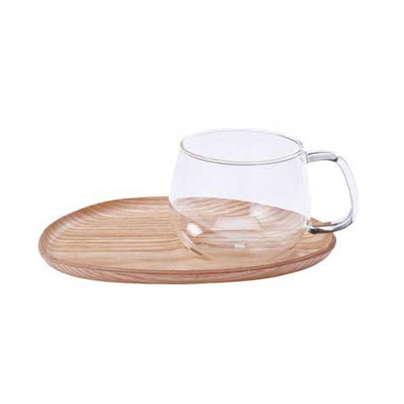 Kinto Fika Cafe Sweets Wood 22583 Mug [350 mL]