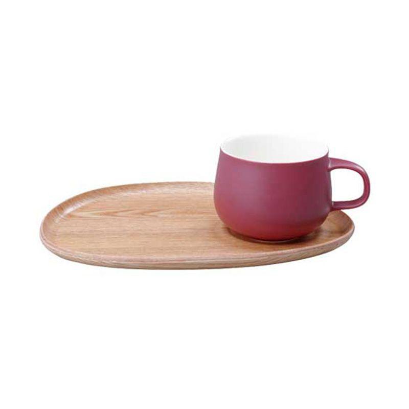Kinto Fika Cafe Lunch Wood 22585 Red Mug [330 gr/250 mL]
