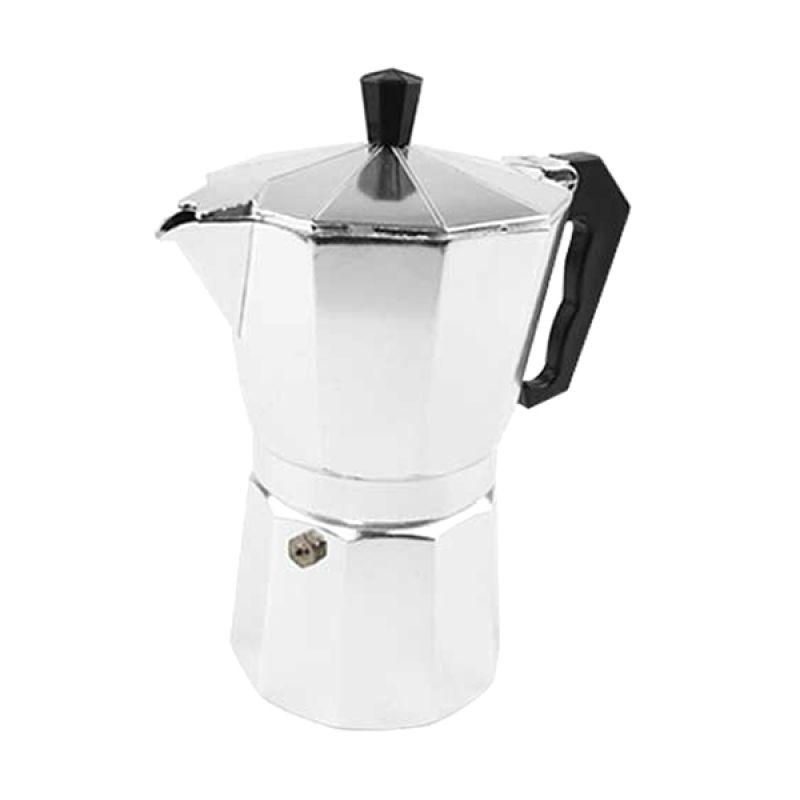 Otten Coffee Mokapot Silver Coffee Maker 6 Cups