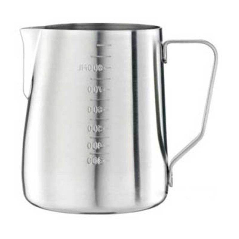 Tiamo HC7085 Silver Milk Pitcher With Scale [950 mL]