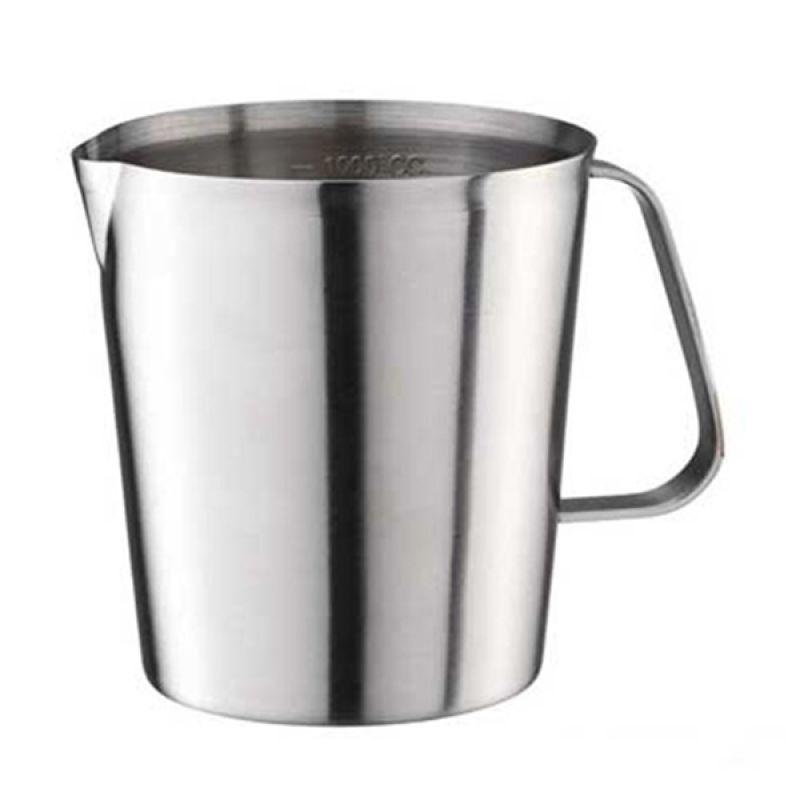 Tiamo HK0329 Silver Milk Pitcher with Scale [500 mL]
