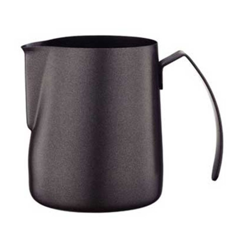 Tiamo HC7071 Teflon Black Milk Pitcher [300 mL]