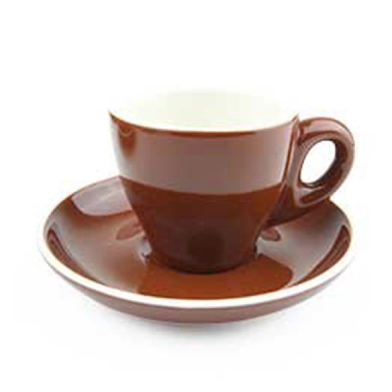 Yami Brown Cangkir Porcelain [80 mL]
