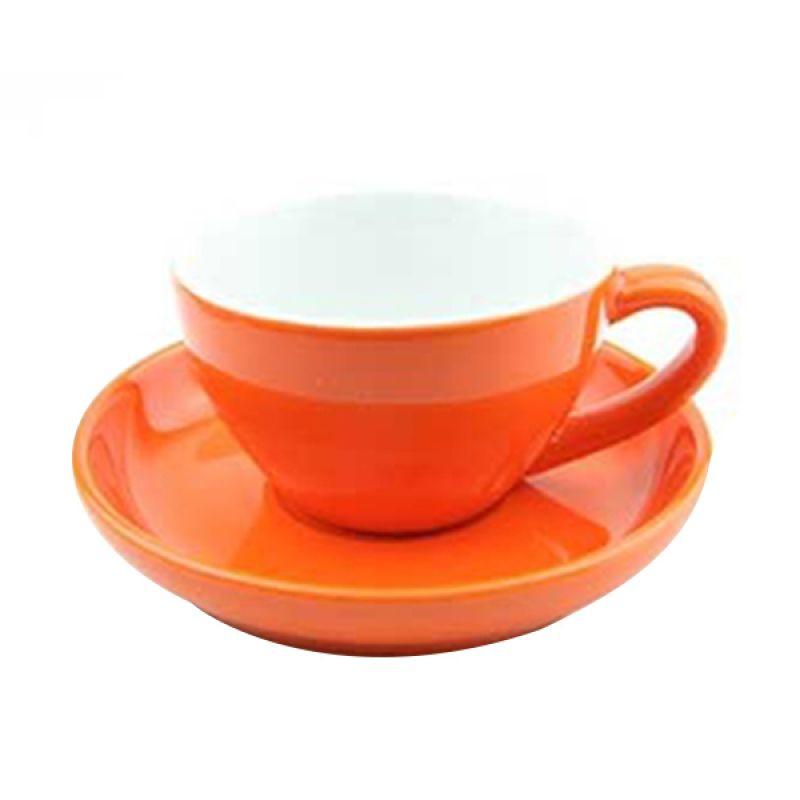 Yami Orange Cangkir Porcelain [200 mL]