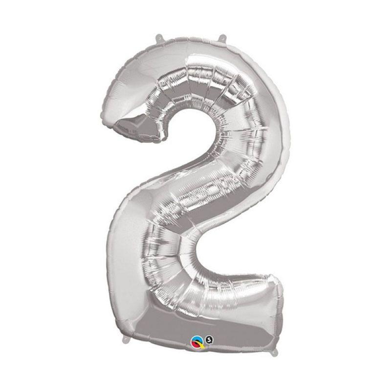 Our Dream Party Angka 2 Silver Balon [40 cm]