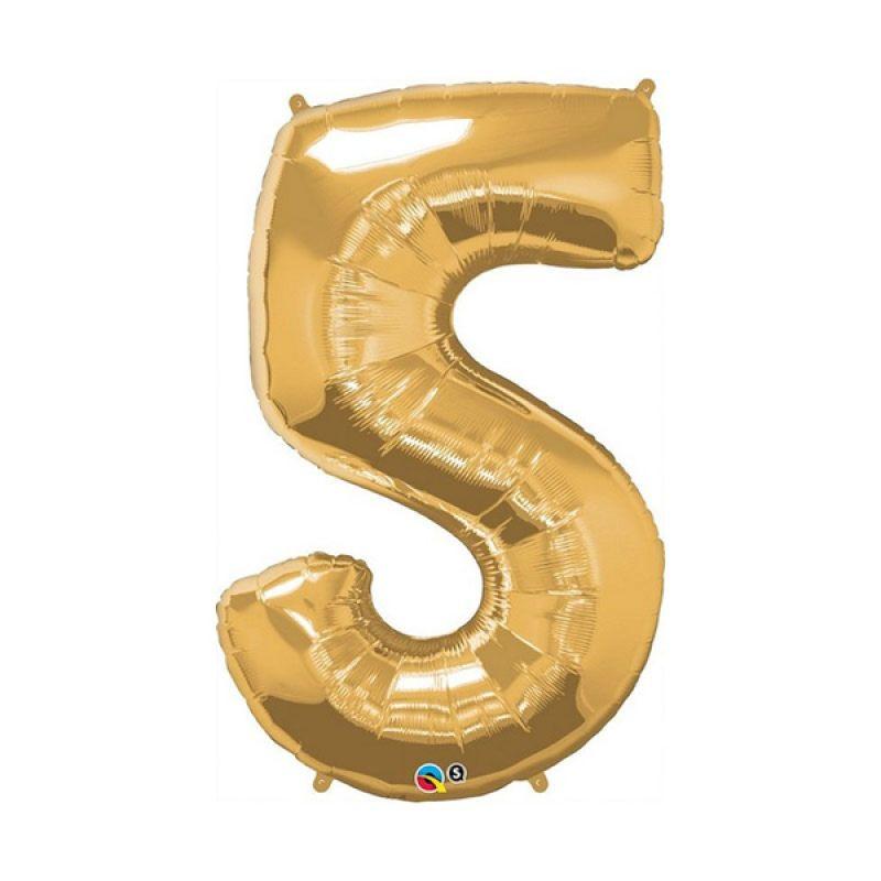 Our Dream Party Angka 5 Emas Balon [40 cm]