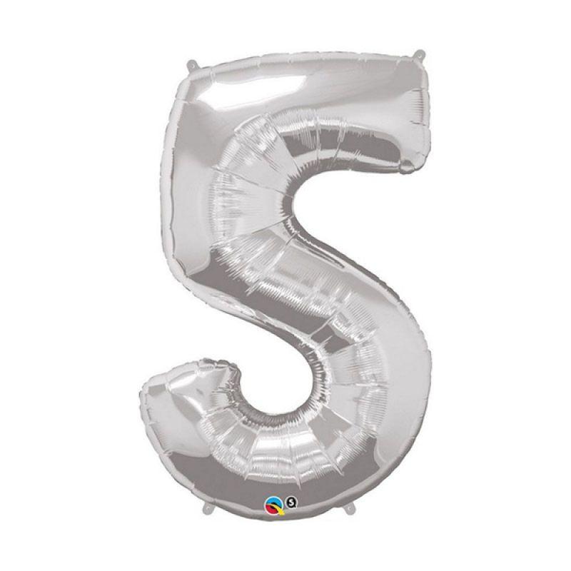 Our Dream Party Angka 5 Silver Balon [40 cm]