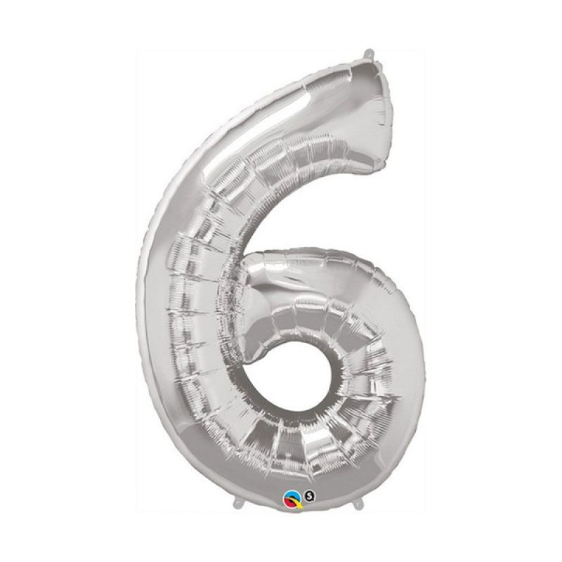 Our Dream Party Angka 6 Silver Balon [40 cm]