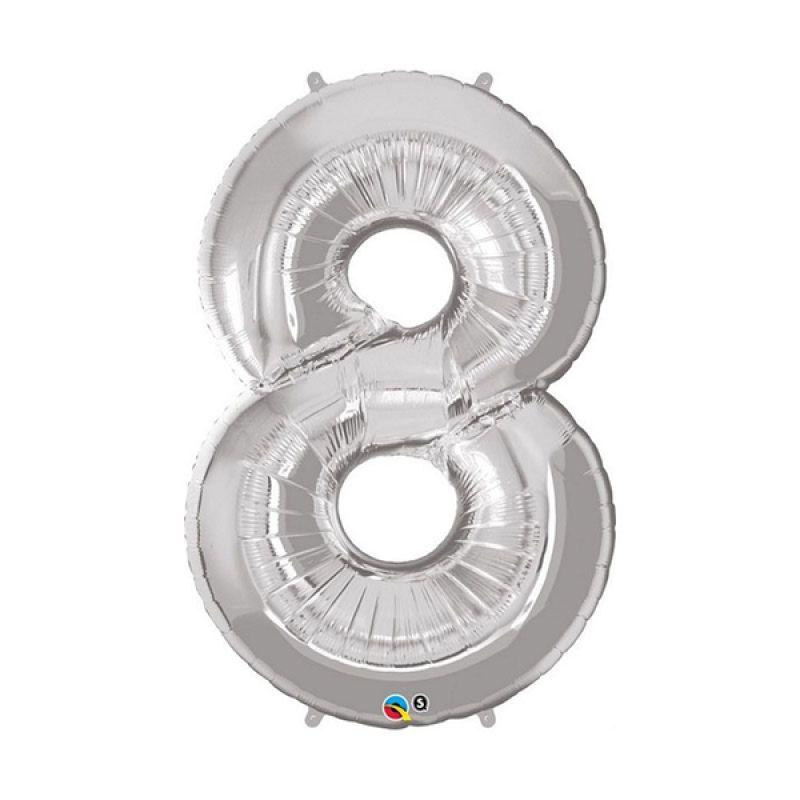 Our Dream Party Angka 8 Silver Balon [40 cm]