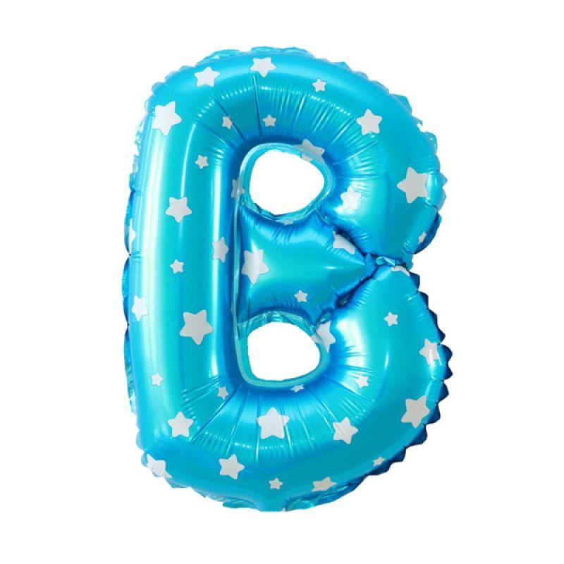 Our Dream Party Huruf B Biru Balon