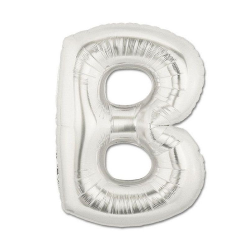Our Dream Party Huruf B Silver Balon [40 cm]