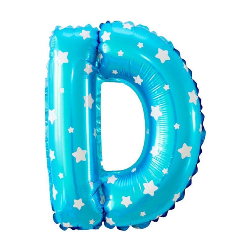 Our Dream Party Huruf D Biru Balon