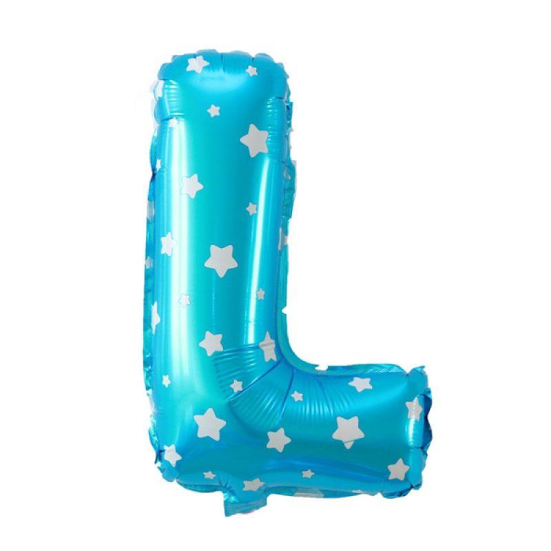 Our Dream Party Huruf L Biru Balon