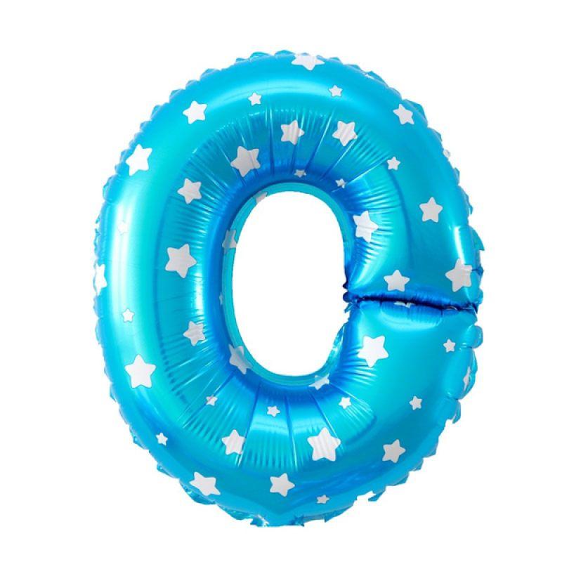 Our Dream Party Huruf O Biru Balon