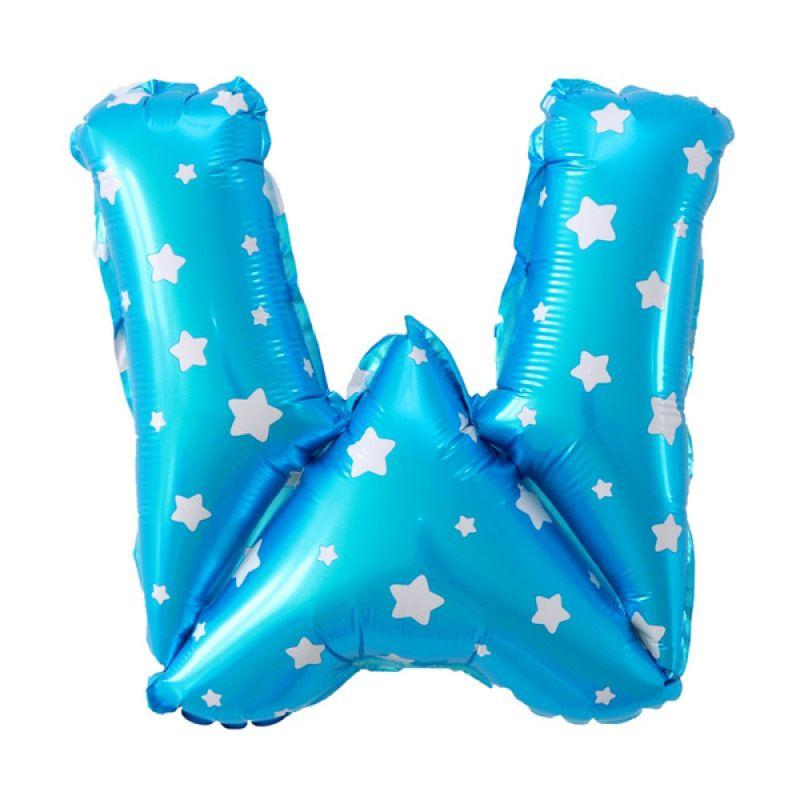 Our Dream Party Huruf W Biru Balon