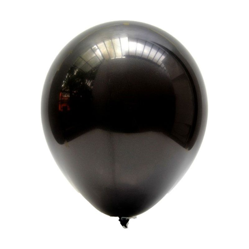 Our Dream Party Latex Metalik Hitam Balon