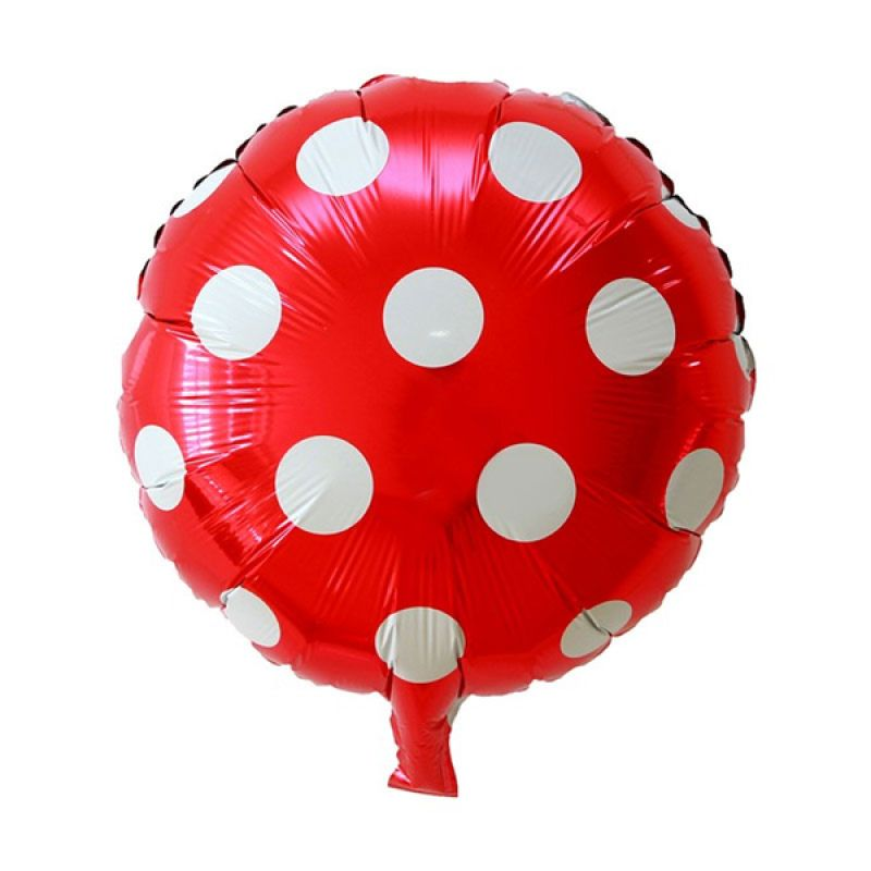 Our Dream Party Polkadot Merah Balon