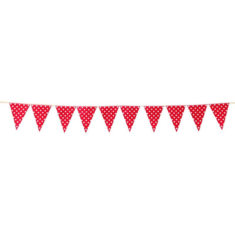 Our Dream Party Polkadot Merah Bendera