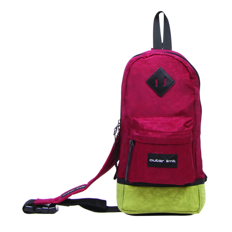 Outer Limit One Shoulder Cringkle BSL.06 Tas Ransel - Maroon Green