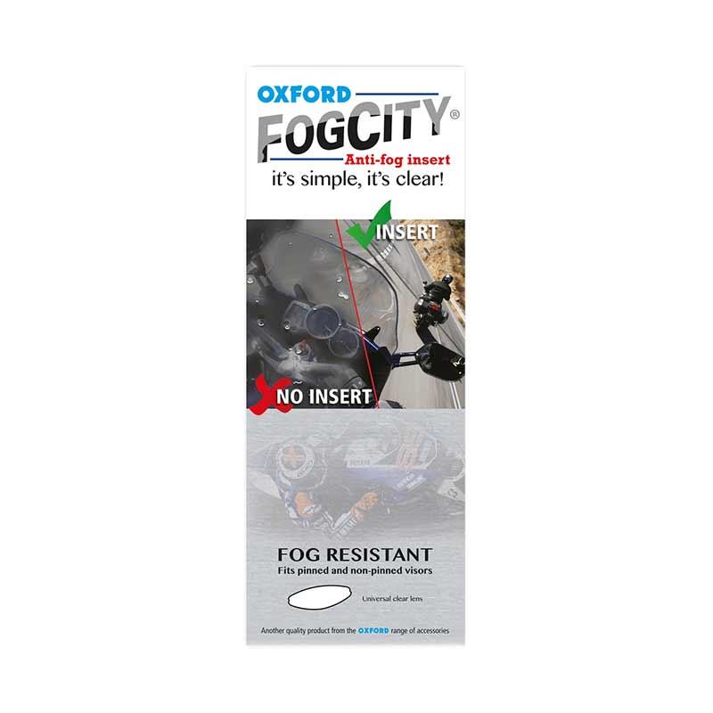 Oxford Fog City Insert Anti Fog