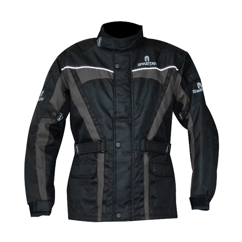 Oxford Spartan Jaket Motor - Black Grey