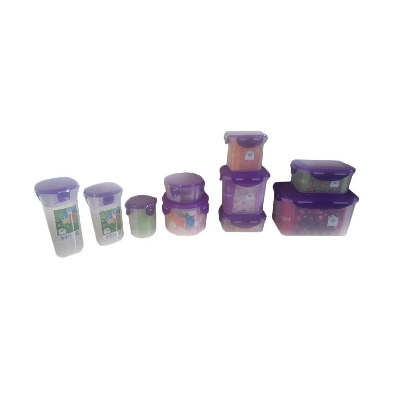 Oxone Green Leaf Lock Four Ungu Set Toples [10 Pcs]