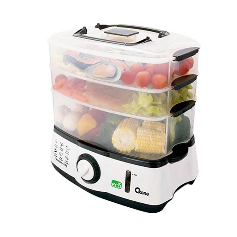 Oxone OX-261 Eco Food Steamer - Hitam Putih
