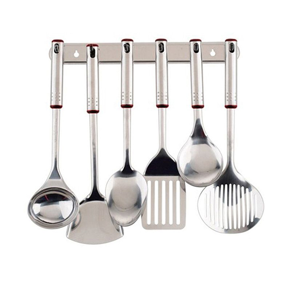 Jual oxone ox963 silver kitchen tools set spatula online for Daftar harga kitchen set stainless steel