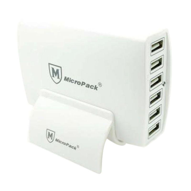 Micropack MUC-6SI 12A Putih Hub USB Charger [6 Port]
