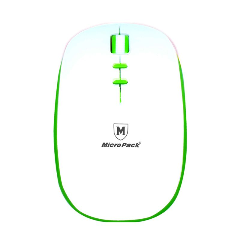 Micropack BT-792W White Green Wireless Mouse