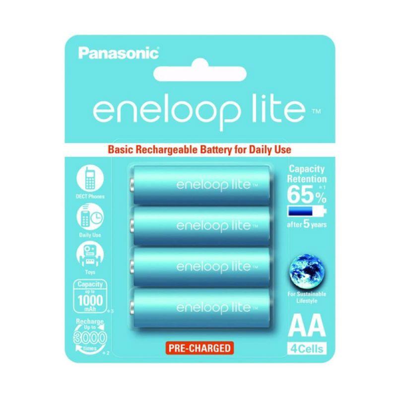 Panasonic Eneloop Lite A2 Baterai Kamera [1000 mAh/4 Pcs]