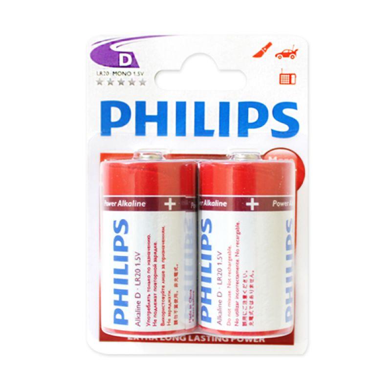 Philips Power Alkaline D Bp2 Baterai [12 Blister]