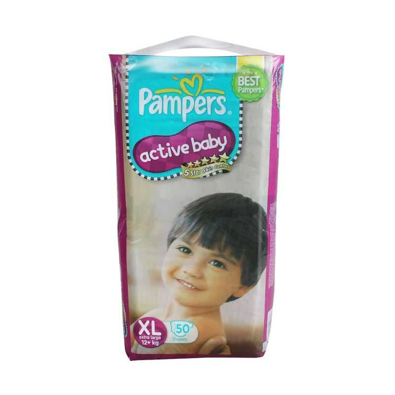 Pampers Popok Active Baby Diapers XL 50