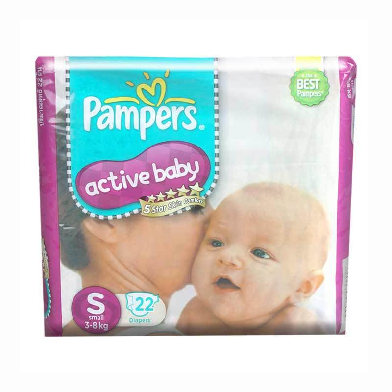 Pampers Popok Active Baby S 22