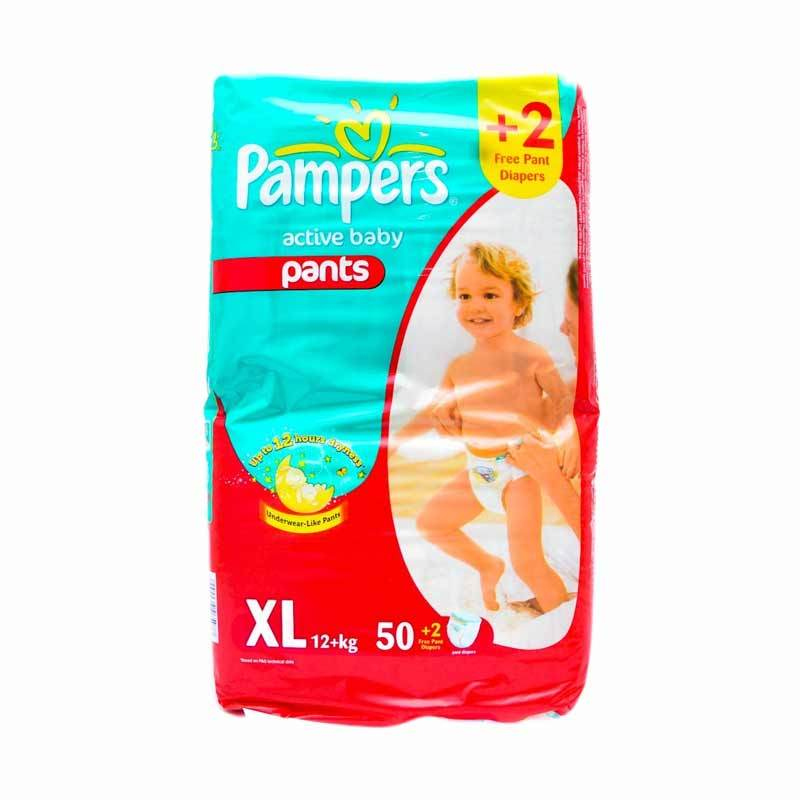 Pampers Popok Active Baby Pants Jumbo Pack XL 50+2
