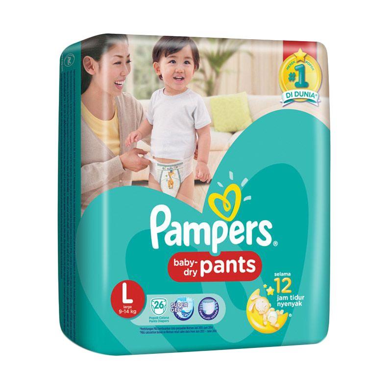 harga Pampers Baby Dry Pants Diaper Bayi [Size L/26 pcs] Blibli.com