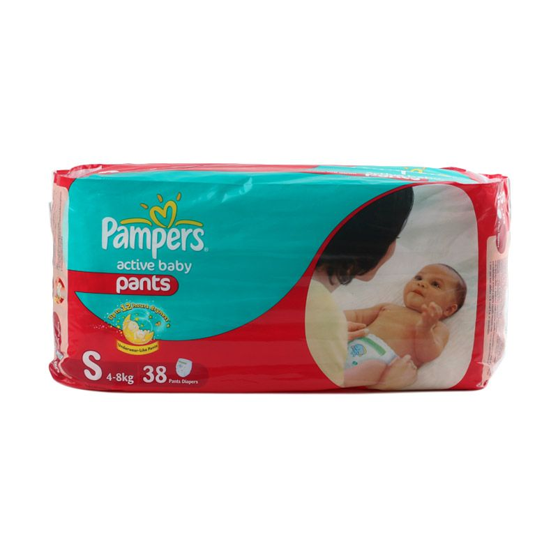 Pampers Active Baby Pants S Popok Bayi [38 Pcs]