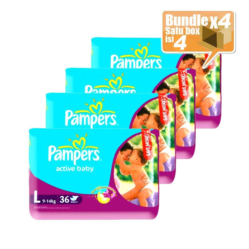 Pampers Popok Active...isi 4 pcs)