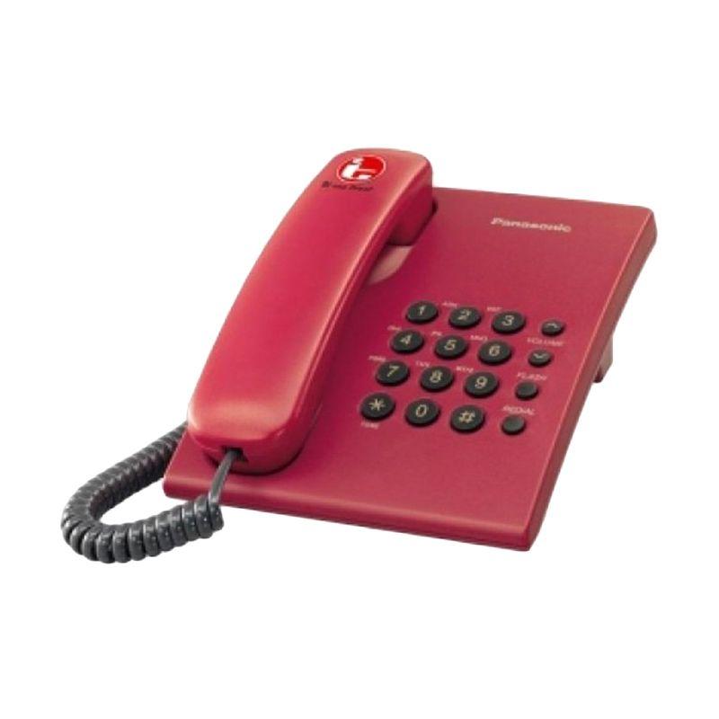 Panasonic KX-TS505MXR Merah Telepon Kabel