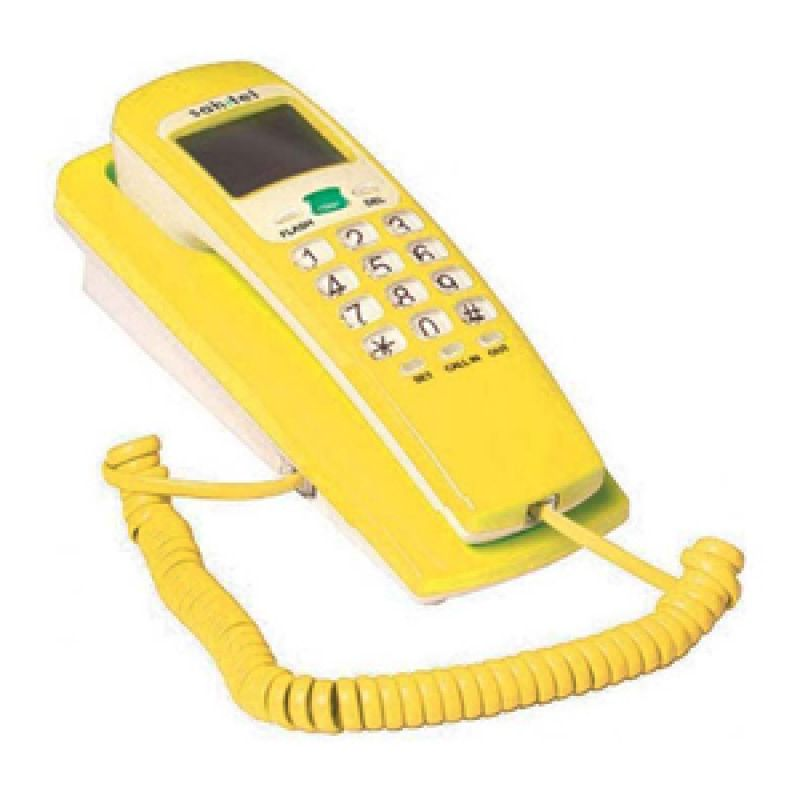 Sahitel single Line Telepon S37 Yellow White