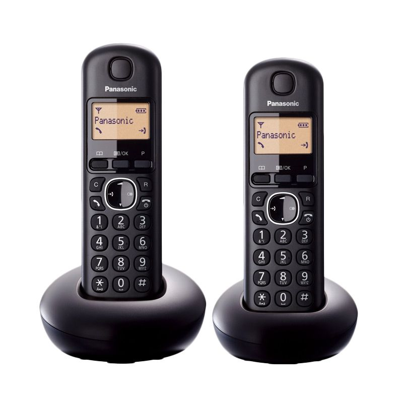 Panasonic Cordless Bullet KX-TGB212CX Wireless Hitam Telephone [2 Handsets]