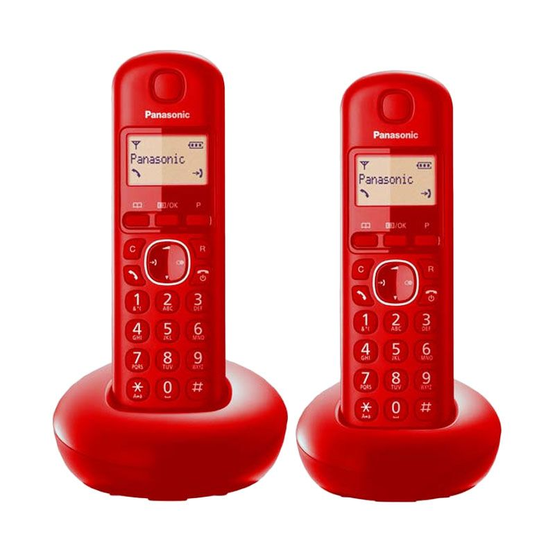 Panasonic Cordless Bullet KX-TGB212CX Wireless Merah Telephone [2 Handsets]