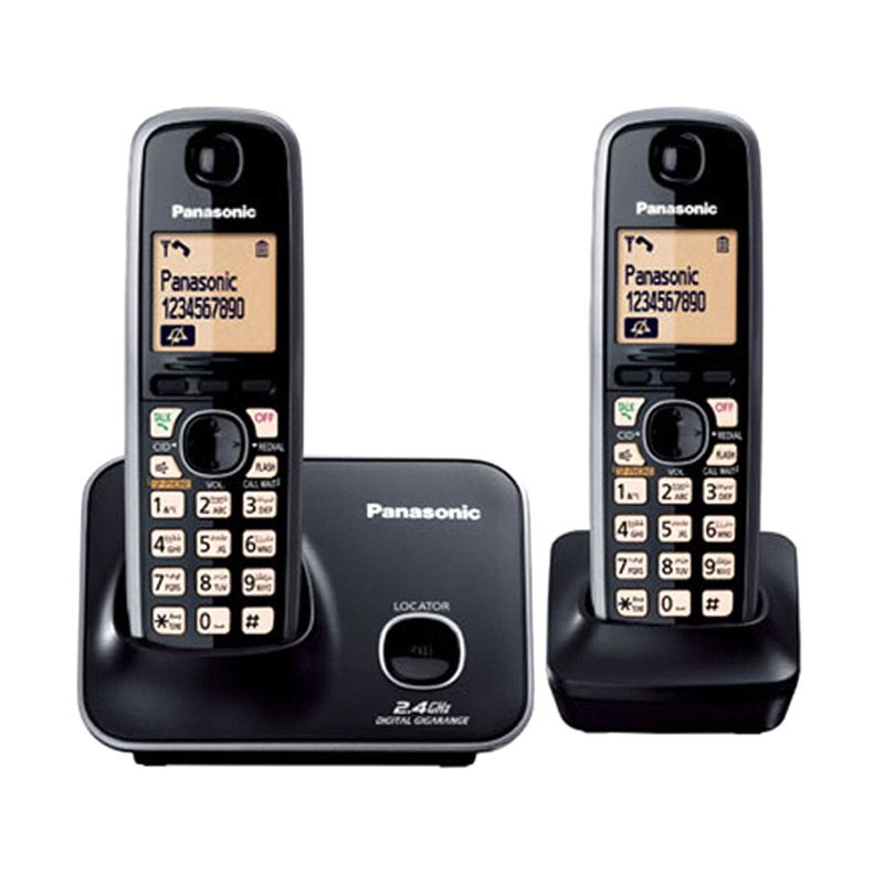Panasonic Cordless KX-TG3712 Wireless Phone [Speaker Phone/2 Handsets]