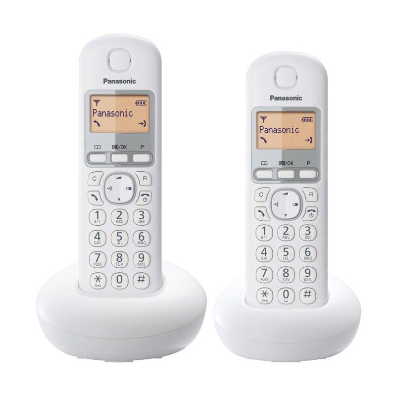Panasonic Cordless Phone KX-TGB212CX Wireless Putih Telephone [2 Handsets]