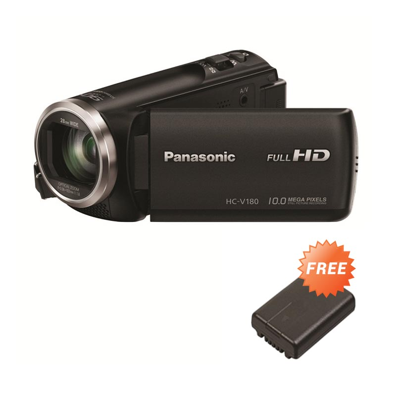 Panasonic HC-V180 Camcorder - Black + Free Battery Original + Screen Guard Extra diskon 7% setiap hari Extra diskon 5% setiap hari Citibank – lebih hemat 10%