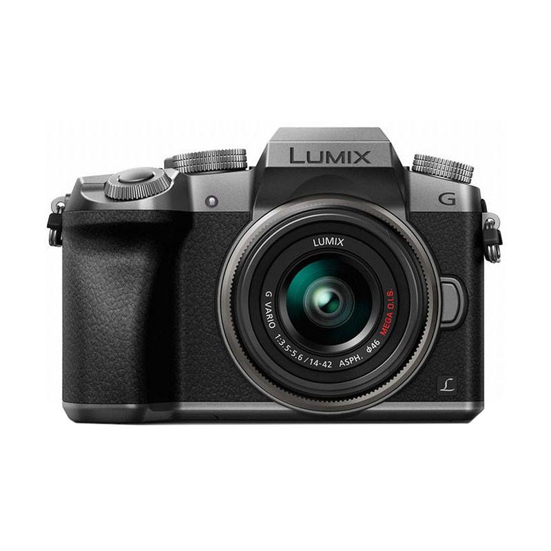 Kamis Ganteng - Panasonic Lumix G DMC G 7 K + 14-42 Silver Kamera Mirrorless