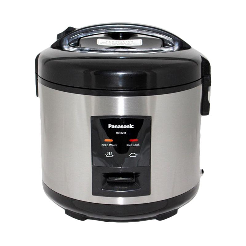harga Panasonic Magic Com SR-CEZ18 SSR Rice Cooker - Silver [1.8 L/3 in 1] Blibli.com