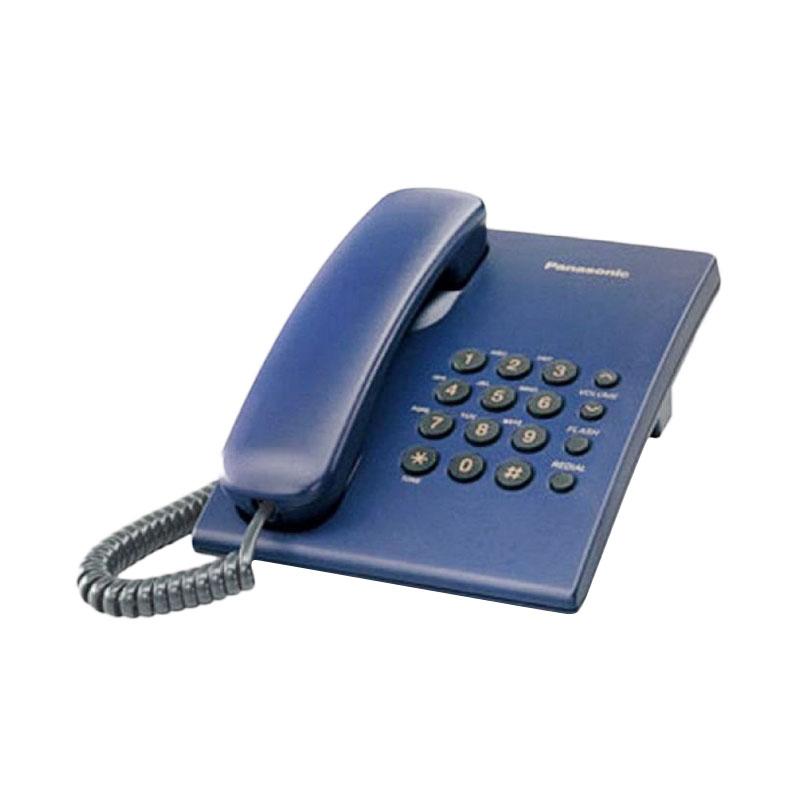 Panasonic Single Line KX-TS505 MX Telepon Kabel - Biru