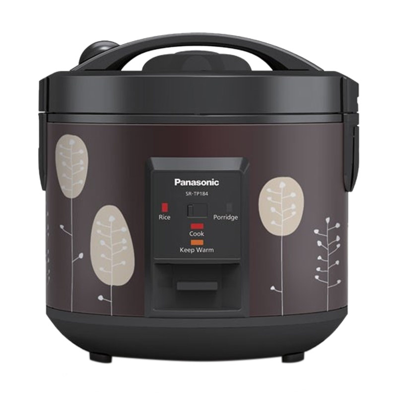 Panasonic SR-TP18SSR Retro Floral Maroon Rice Cooker 4in1 Easy Cooking